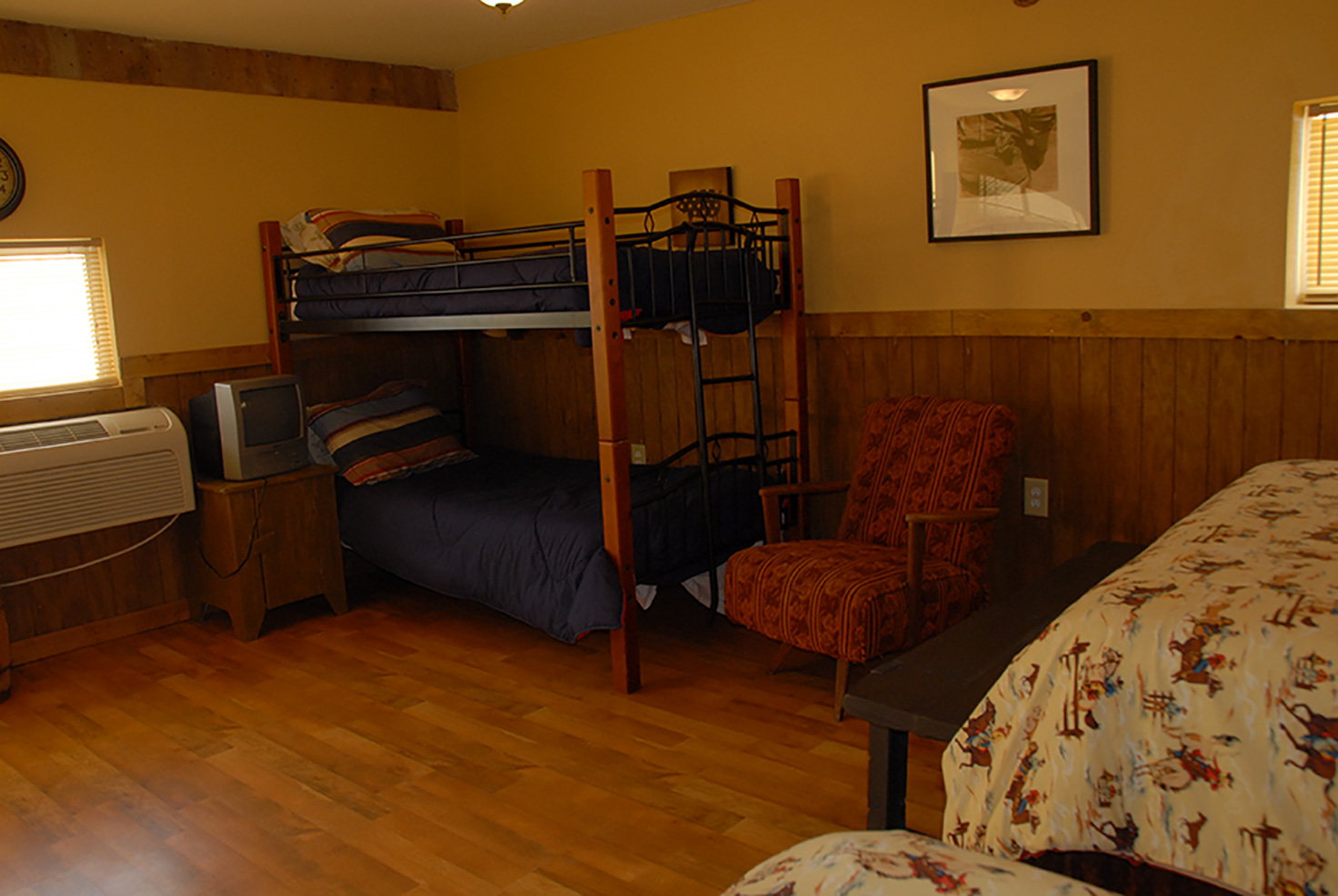Bunk beds in a room